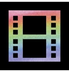 Watercolor film icon vector