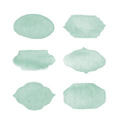 watercolor logo design elements vector image