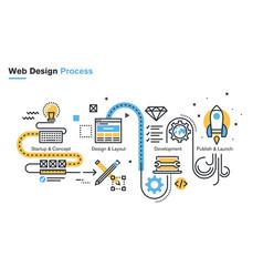 website design process vector image