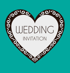 Wedding invitation heart image vector