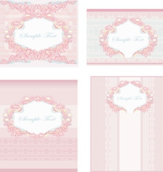 Wedding reception card set vector