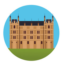 westmister palace icon vector image