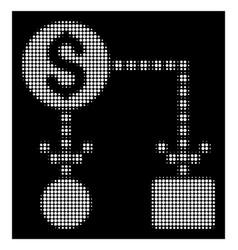 white halftone cashflow icon vector image