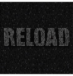 White reload code background vector