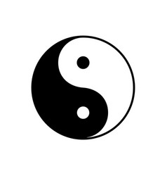 Yin yang symbol dualism in ancient chinese vector