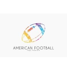 American football ball football ball Ball logo vector image vector image