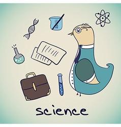 bird Science Professor vector image