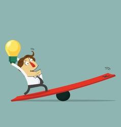 Businessman hold bulb idea vector image vector image