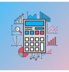 Calculator with diagrams vector image
