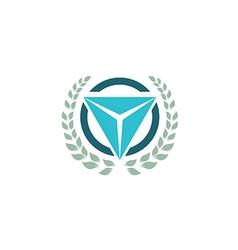 emblem triangle logo vector image vector image