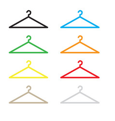 hanger icon flat design style hanger sign vector image vector image