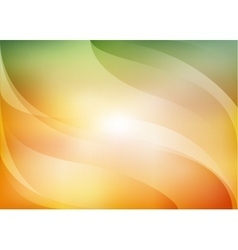 orange and green background vector image vector image