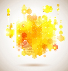 Bright and optimistic poster Lush yellow abstract vector image