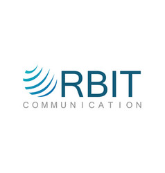 orbit shape communication logo vector image