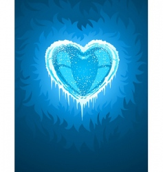 cold icy heart vector image vector image