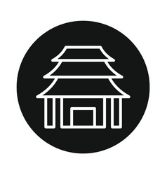 japan temple icon isolated on white background vector image vector image