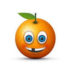 missing tooth orange vector image