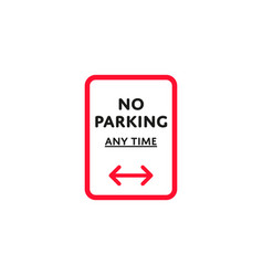 no parking any time roadsign isolated vector image