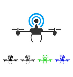 Wifi repeater drone flat icon vector