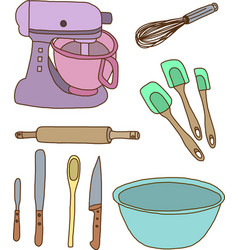 Baking items vector image vector image