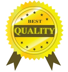 Best Quality Guaranteed Label isolated on a white vector image