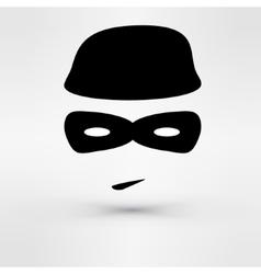 Black Icon thief vector image vector image