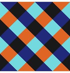 Blue Orange Chess Board Diamond Background vector image