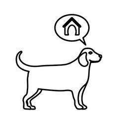 Cute dog pet vector image vector image