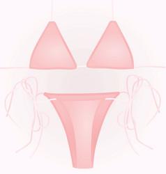 pink swim suit vector image vector image