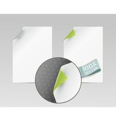 sheets with turned edge isolated on white backgrou vector image