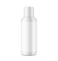 white glossy plastic cosmetic bottle template vector image vector image