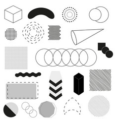 abstract and trendy modern geometric background vector image