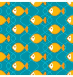Abstract fish pattern vector