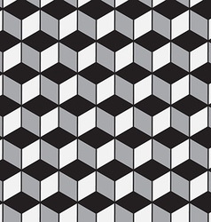 Abstract geometric tiles 3D seamless pattern vector image