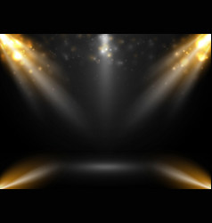 abstract of mockup stage show in gradient black vector image