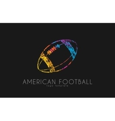 American football ball football ball Ball logo vector