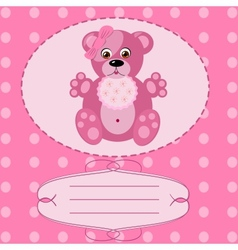 Bagirl greeting card background vector