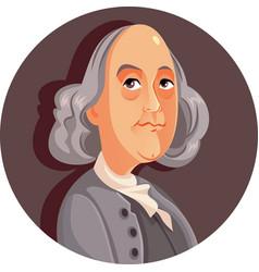 benjamin franklin cartoon vector image