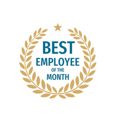 best employee month - badge design with vector image