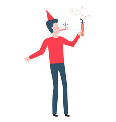 birthday party people flat vector image