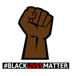 Black lives matter protest sign vector