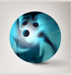 bowling ball 3d realistic vector image vector image