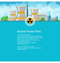 Brochure nuclear power plant vector