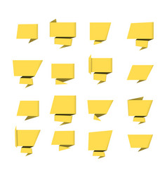 bubble speech yellow vector image