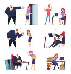 burnout job problem at work overwhelmed sleepy vector image