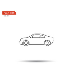 car icon flat logo vector image