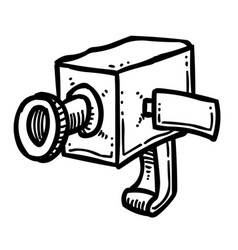 Cartoon image of camera icon camera symbol vector
