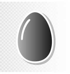 Chiken egg sign new year blackish icon on vector