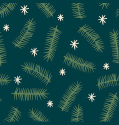 christmas and happy new year seamless pattern with vector image