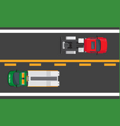 City traffic concept with cars on highway vector